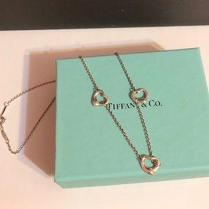Tiffany & Co Peretti open heart triple necklace